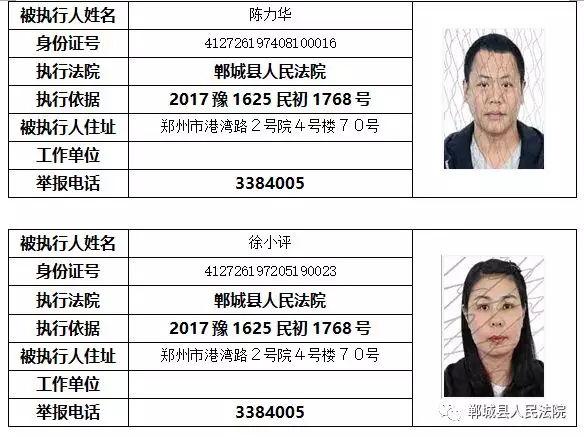 """【实名曝光】郸城这些人被列入""""失信黑名单""""!(附名单) 黑名单 第10张"""
