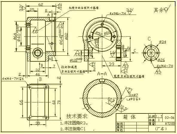 看不懂复杂机械加工图纸?保存这篇就够了!丨干货