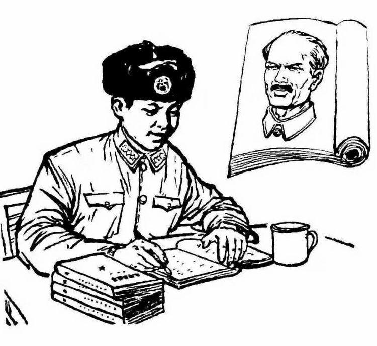 军旅画家朱吉男 大型绘画作品 雷锋画集