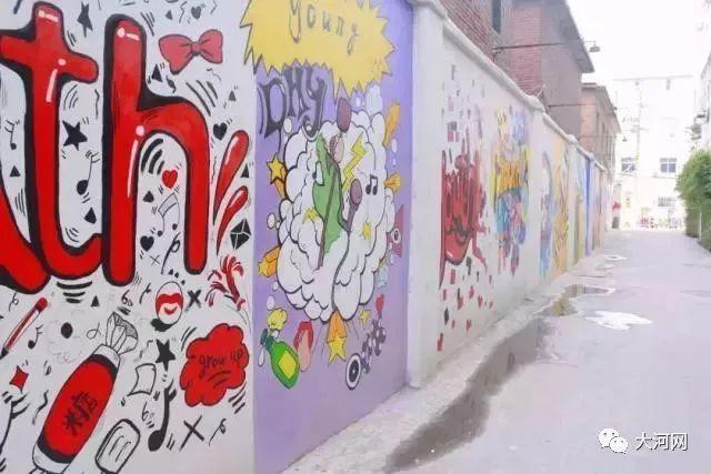 网红手绘拍照墙