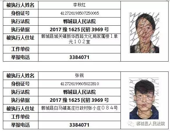 """【实名曝光】郸城这些人被列入""""失信黑名单""""!(附名单) 黑名单 第8张"""