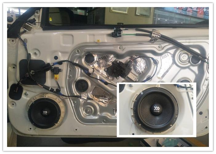 现代劳恩斯汽车音响改装,高性价比升级方案,西宁精工车改坊案例图片