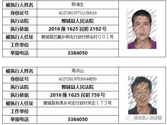 """【实名曝光】郸城这些人被列入""""失信黑名单""""!(附名单) 黑名单 第9张"""