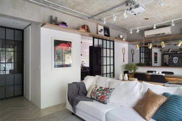 巴西现代工业风公寓