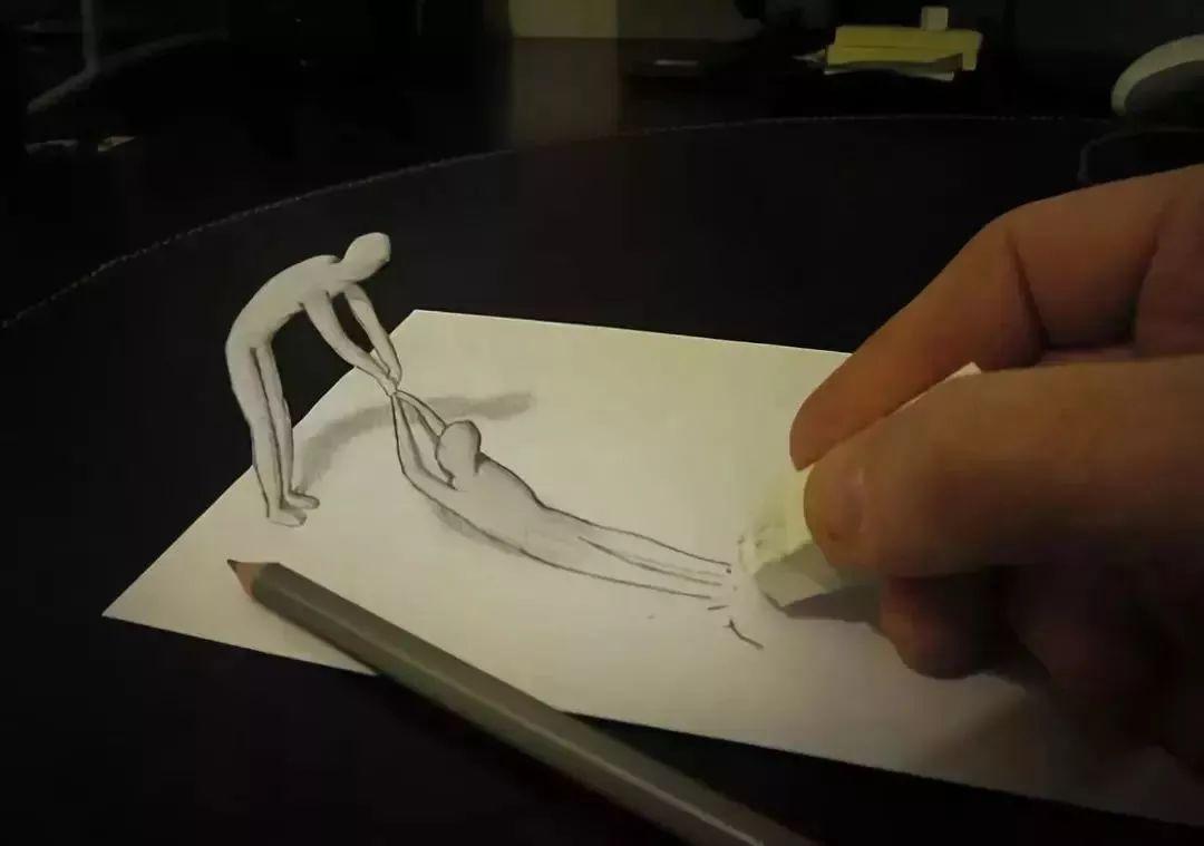 超级牛的3D铅笔画 神笔马良在世也不过如此了吧图片
