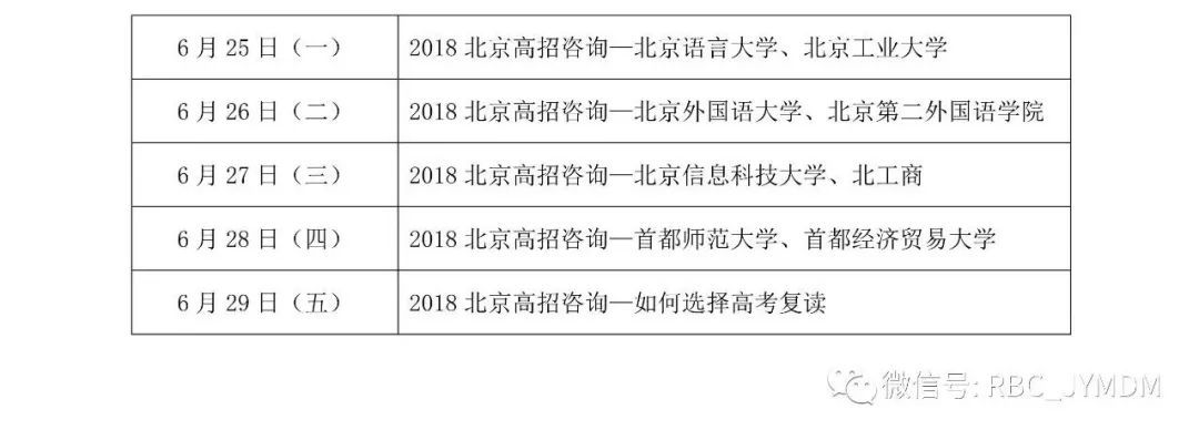《教育面对面》2018北京高招直播咨询第二阶段节