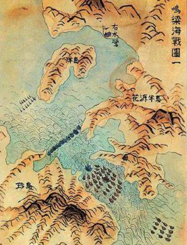 玉浦团囹�a�L_历史 正文  5月7日,李舜臣发现玉浦海面停泊着50余艘敌战船,大部敌军