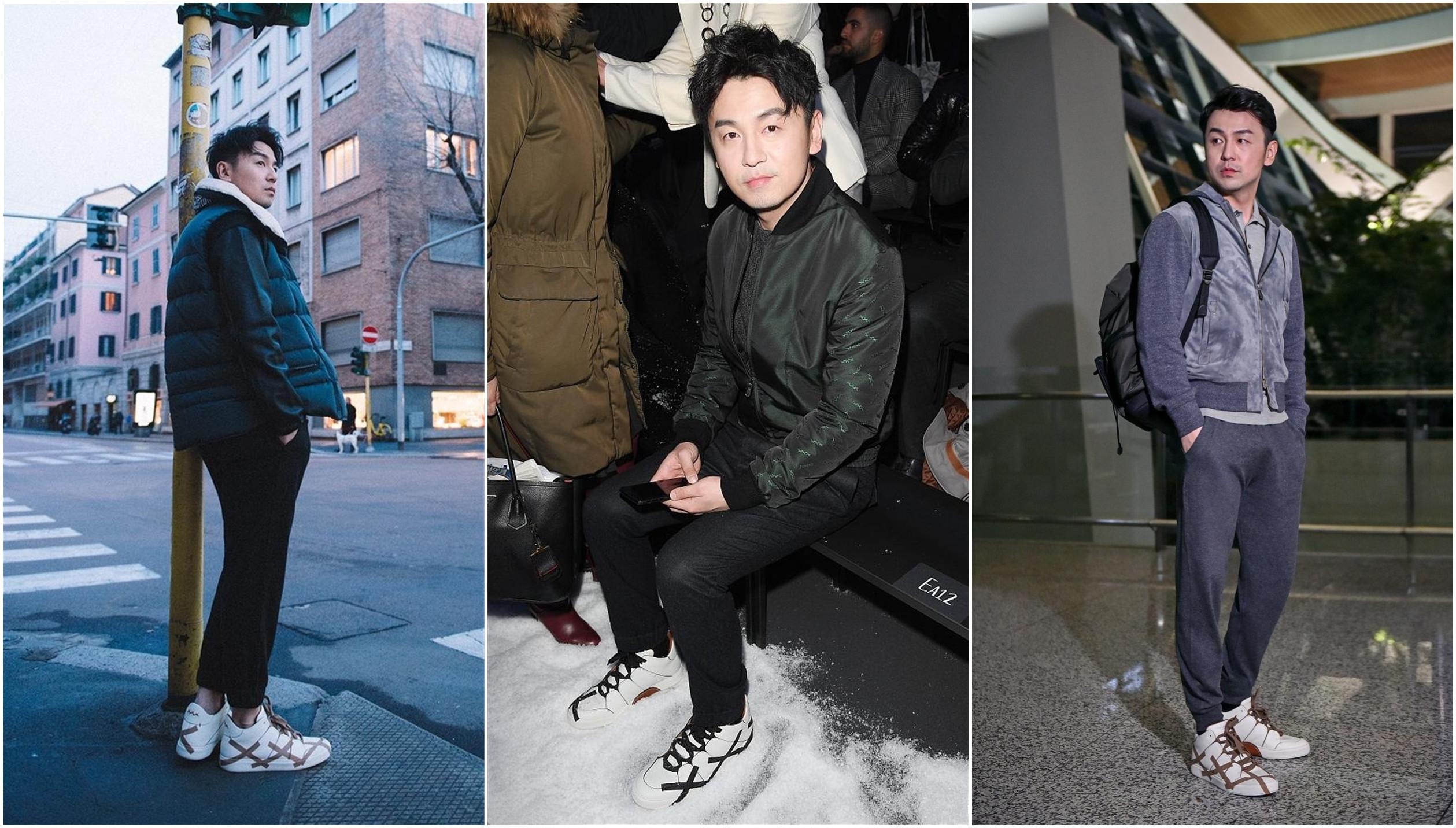 35岁雷佳音拍时尚大片造型二度撞上刘昊然,话说他何时变如此时髦