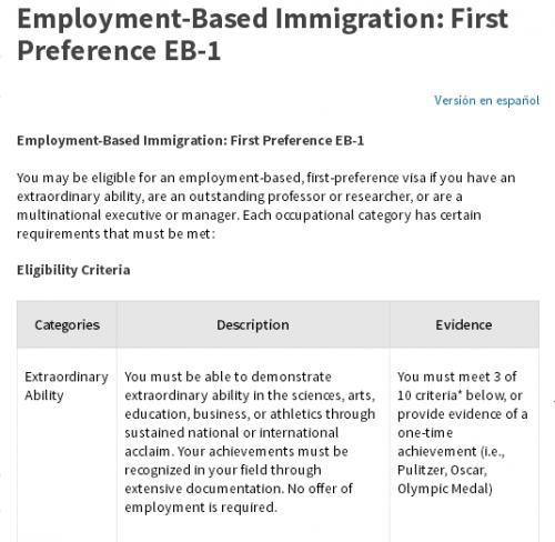 头脑要清醒,美国EB1-A杰出人才移民其实很难