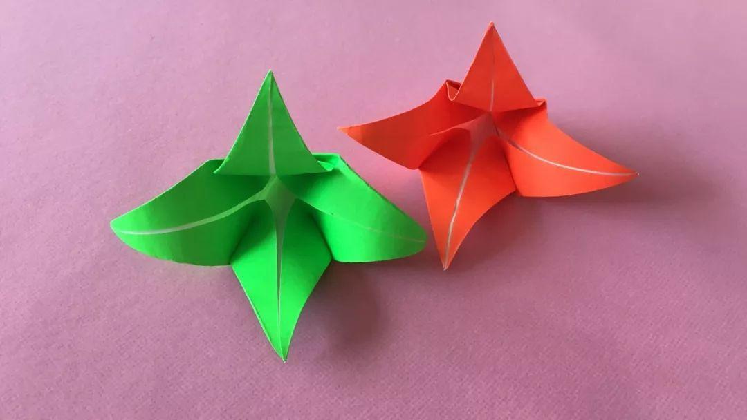 手工折纸,最最简单的一款百合花折纸,保证一学就会