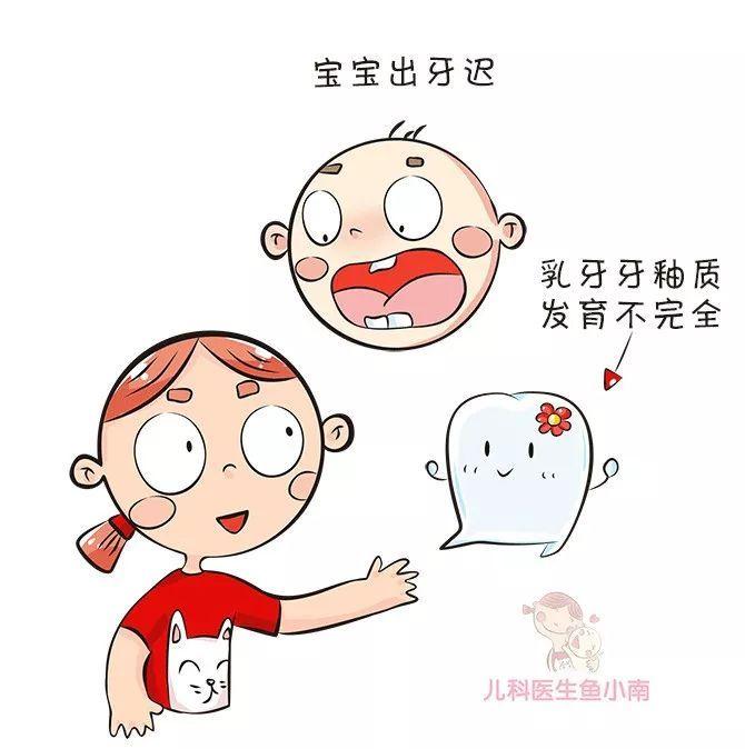 因素,有的宝宝出牙迟,乳牙牙釉质发育不全,跟爸妈的牙齿状况有一定的