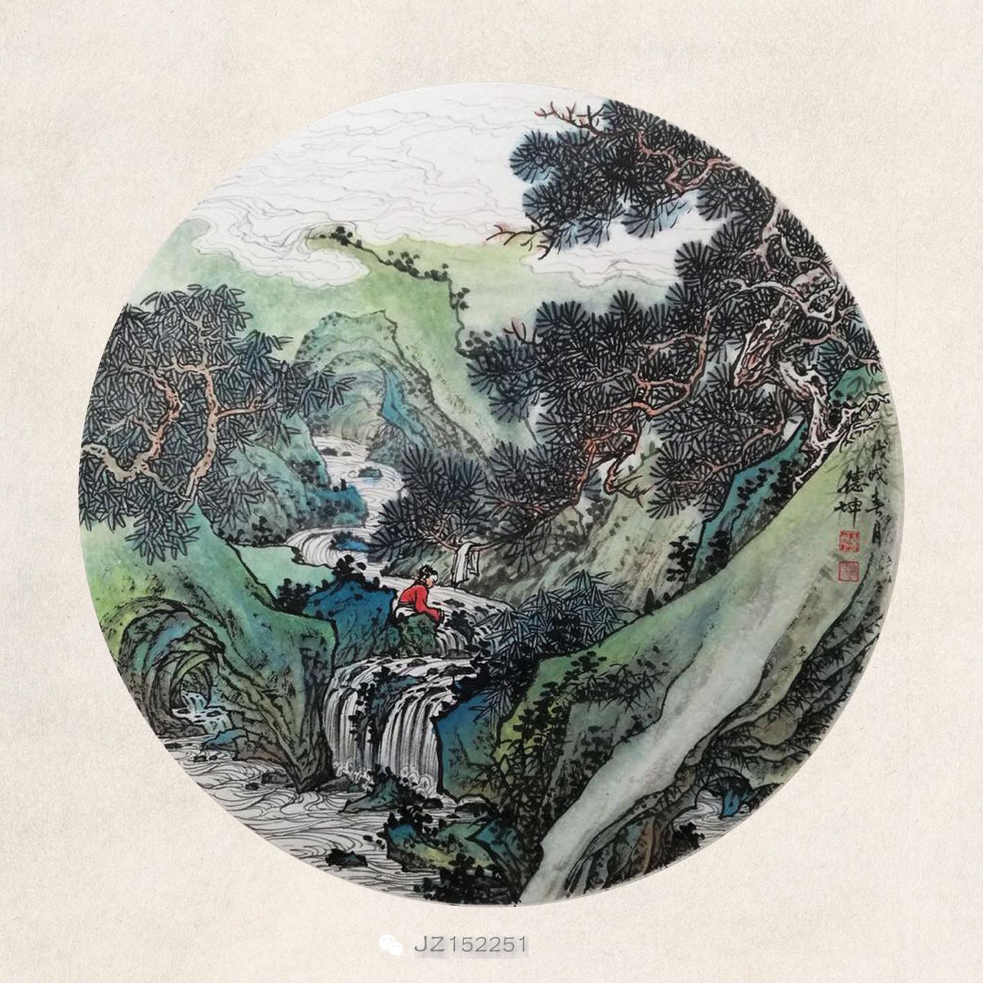 著名画家林德坤国画山水作品欣赏
