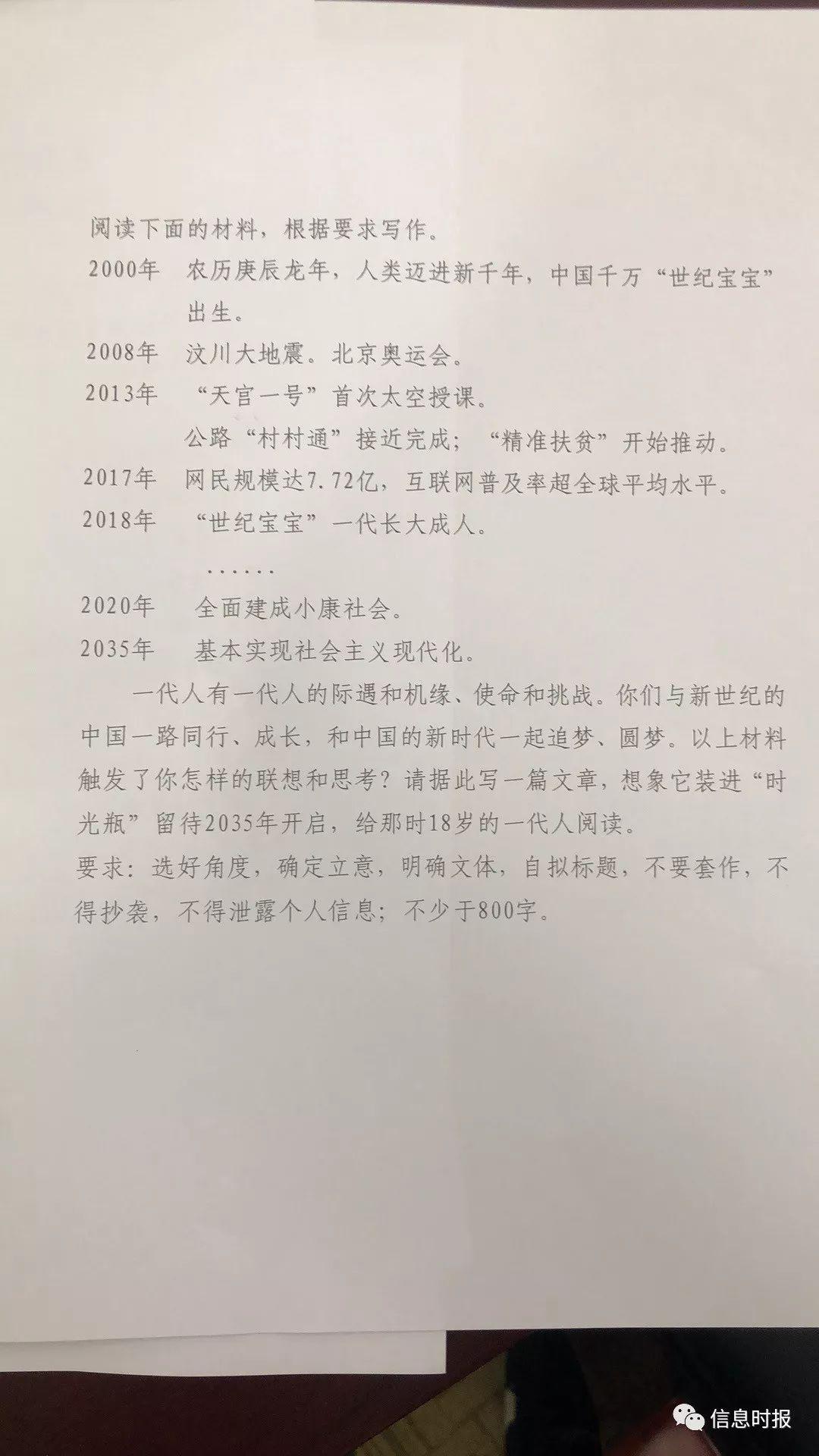广东高考作文题出炉:一封写给2035年的信!图片