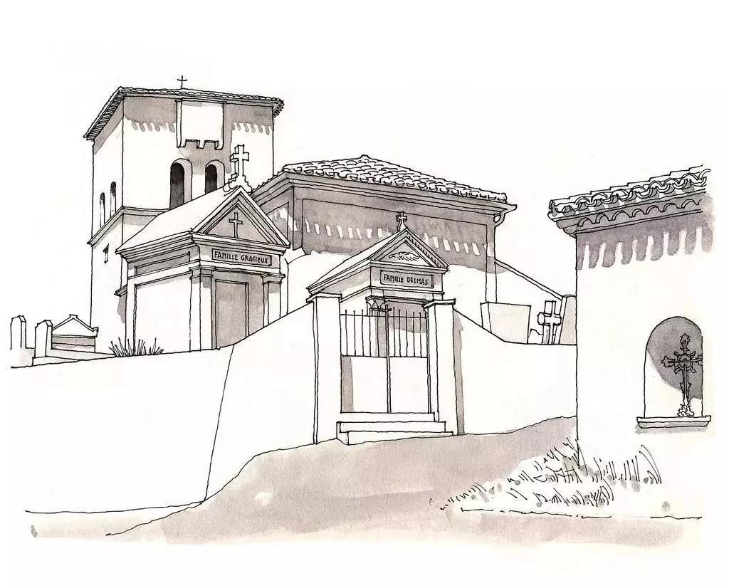 古风建筑手绘简单