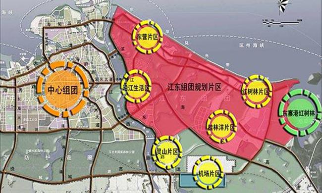 (海口江东新区片区规划图)