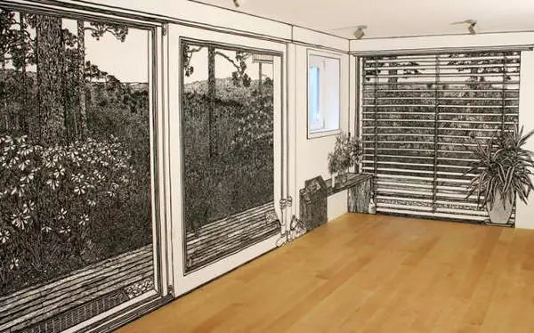 房间立体手绘 素描