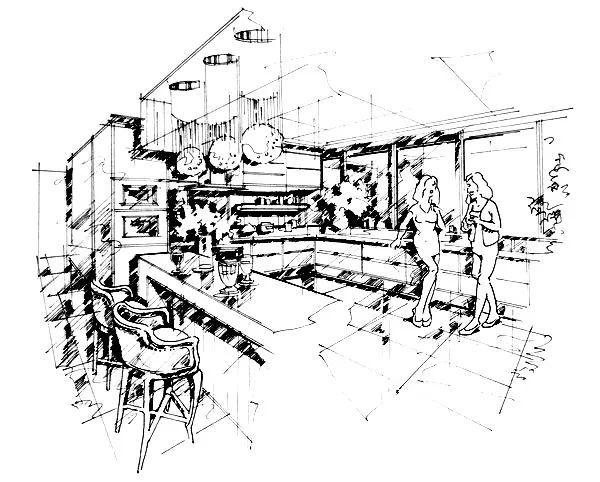 美食 正文  餐厅手绘设计效果图大全 宴会厅,中餐厅,西餐厅,就餐廊