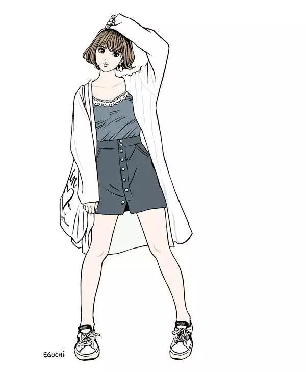 江口寿史の女子高生画像