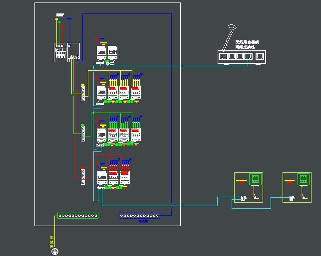 pps智能照明控制系统成套配电箱接线图