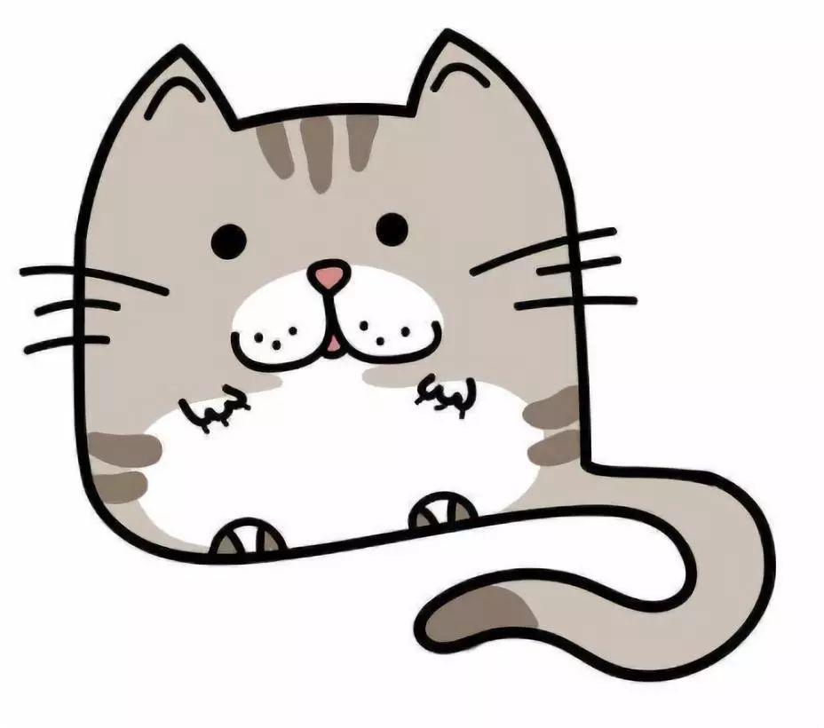 猫咪爪子手绘卡通图片