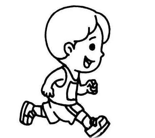 跑步简笔画