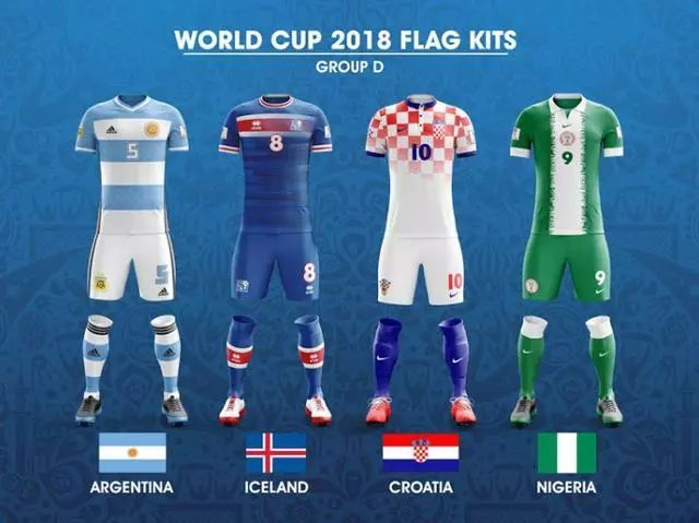 以世界杯32强的国旗为灵感,设计出来的球衣是怎样的?