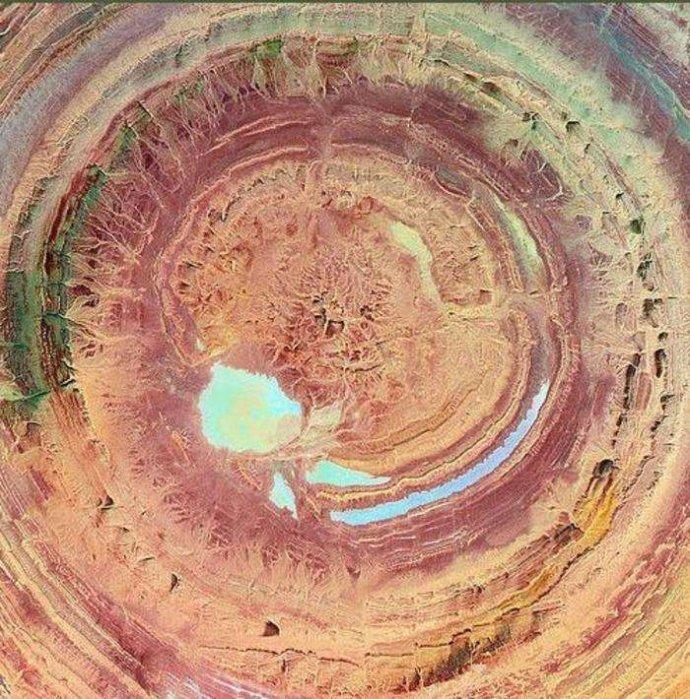 这两个地球之眼是真的吗?形成原因至今仍是谜团