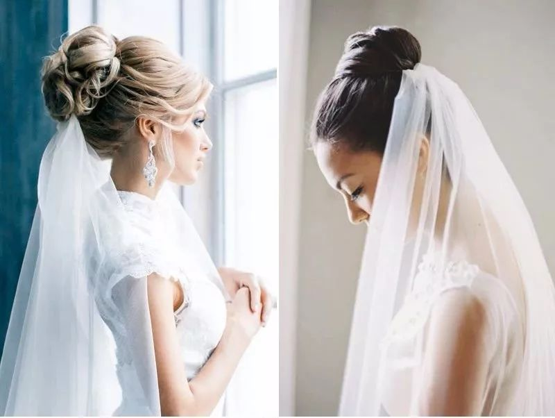 头纱攻略   新娘的头纱这么戴,灵动自然又不失优雅图片