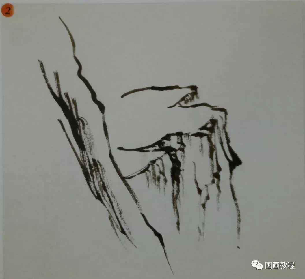 国画山水基础教程—山体常见画法