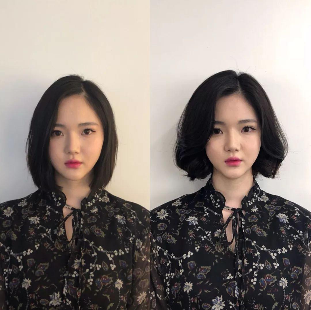 这些脸型的女生,不适合留黑长直发型,烫发会