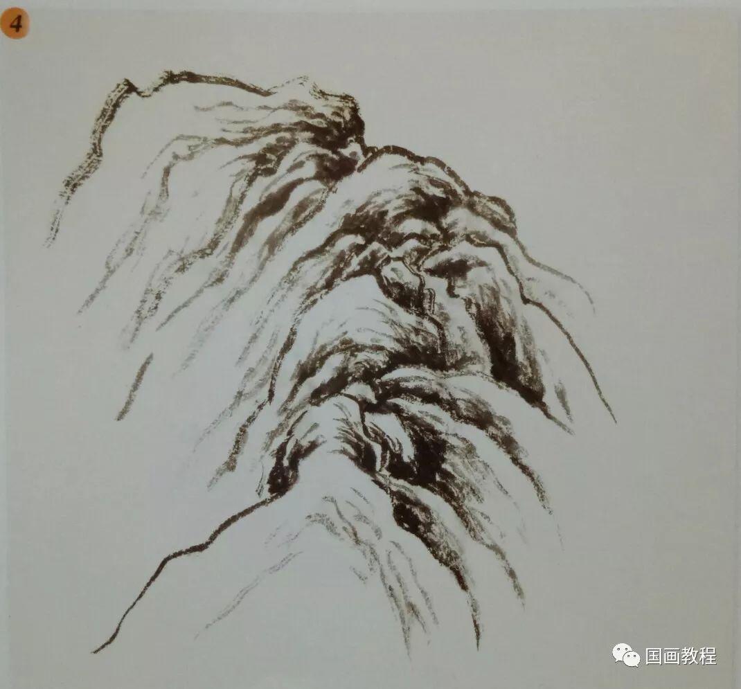 国画山水基础教程—山体常见画法图片