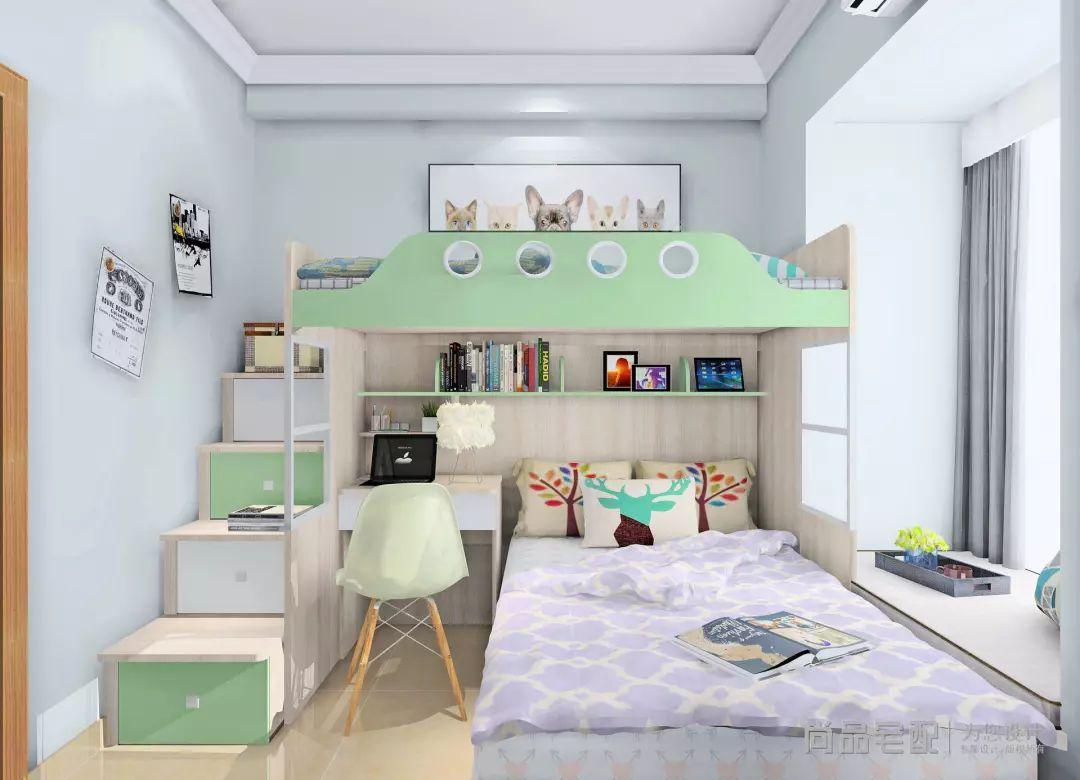时尚 正文  ▲ t型上下床设计,空间更为特别.