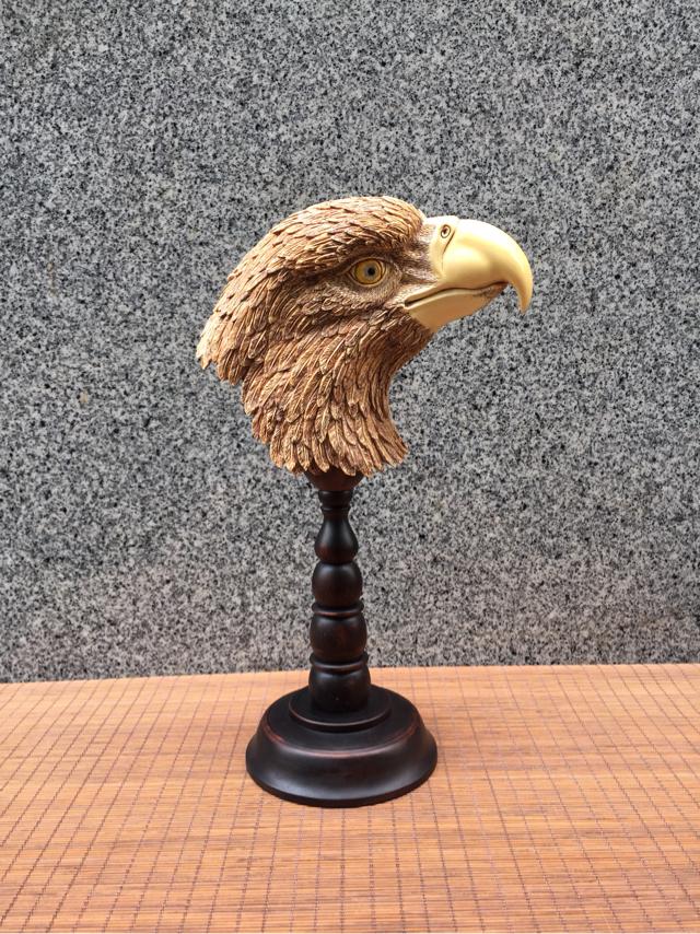 猛犸象牙雕刻工艺品摆件 猛犸牙雕老鹰头摆件 小重山猛犸