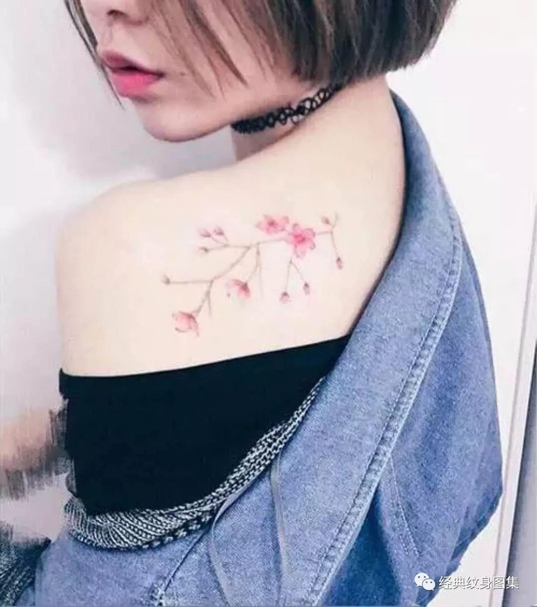 女生樱花瓣纹身图案大全 樱花纹身的含义