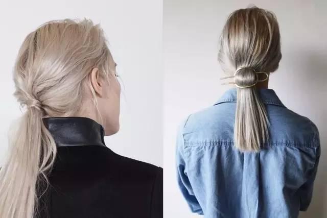 马尾蓬松 也可以是在扎好后用手抓蓬松 如果头发颜色很浅 头绳的颜色图片