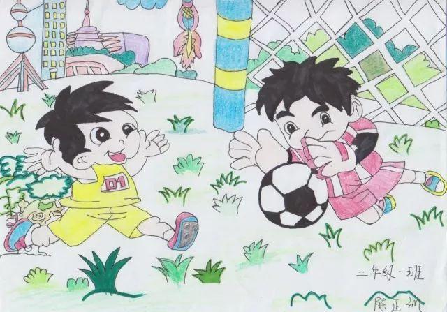 六足球三班本次足球文化节,绘画还从学校们上交的节徽设计,年级角色冬同学设计图片