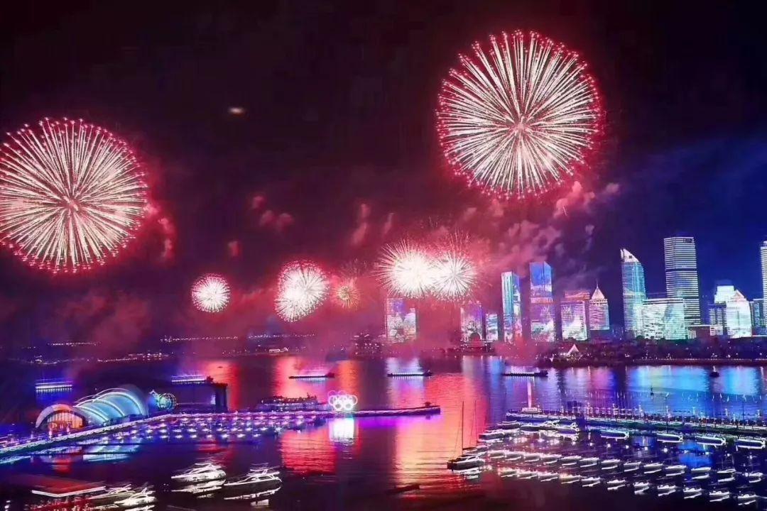 上合青岛峰会焰火表演惊艳全世界!