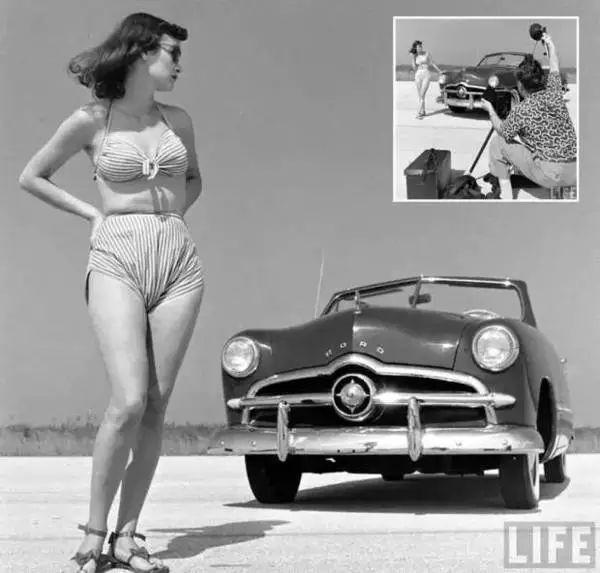 带你瞧瞧五十年前的车模长什么样?