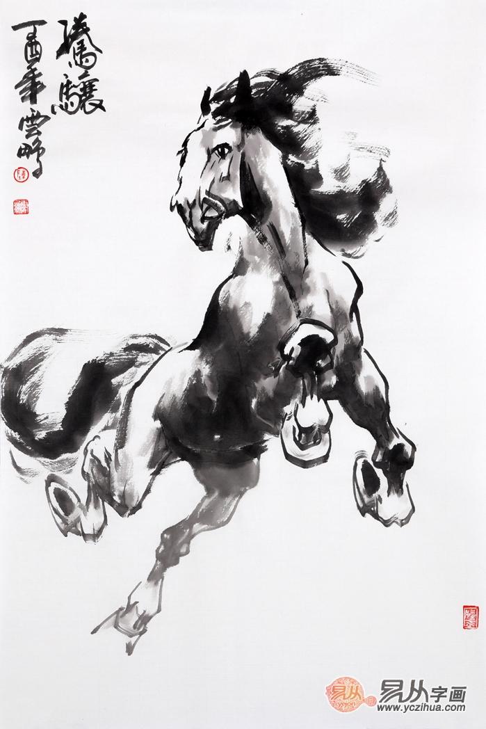 对马的情怀令他坚持画马数十年,陈云鹏就是这么执着的画家