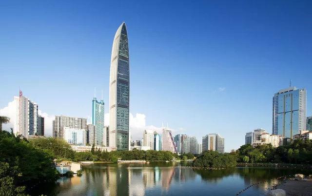 彩色深圳城市手绘图