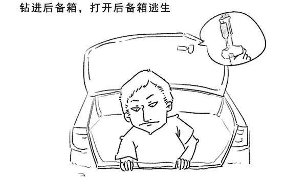 比如   汽车后备箱的逃生暗道,