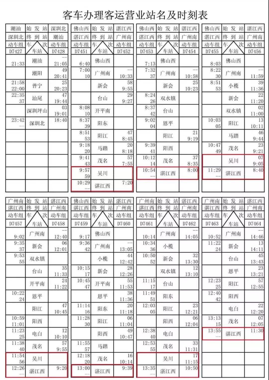 上海火车时刻表?