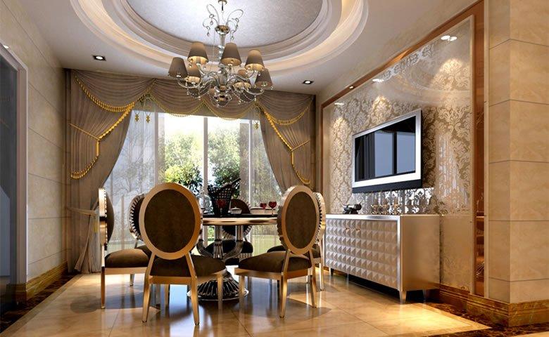 郑州温馨舒适的简欧风格大户型装修效果图图片