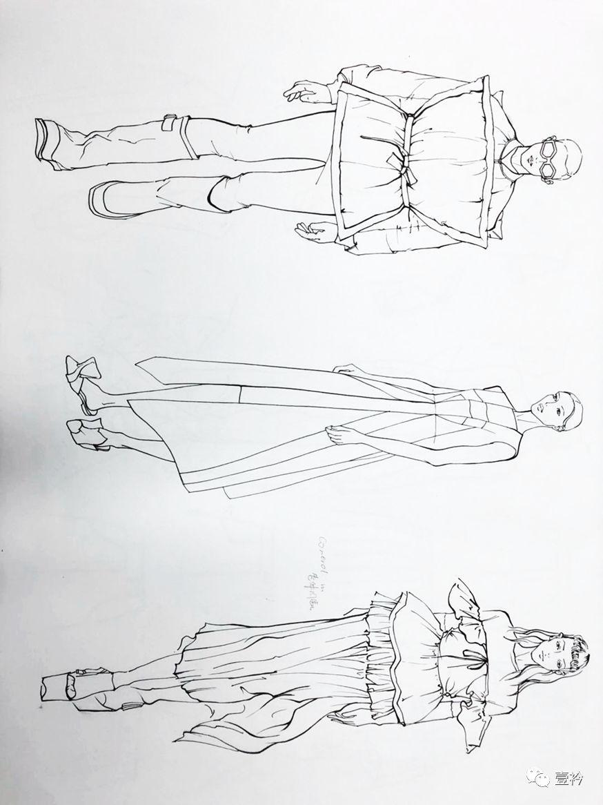 壹衿2018暑假系列课程   服装手绘效果图技法课程 /设计师必备的基本