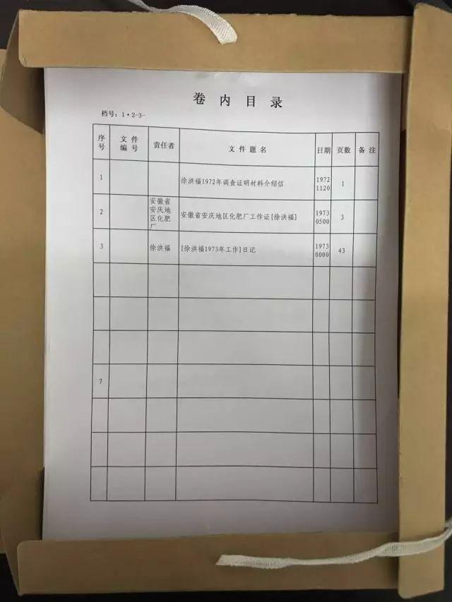 放入卷内目录 将已录入的卷内目录打印一份,放在盒内首页.