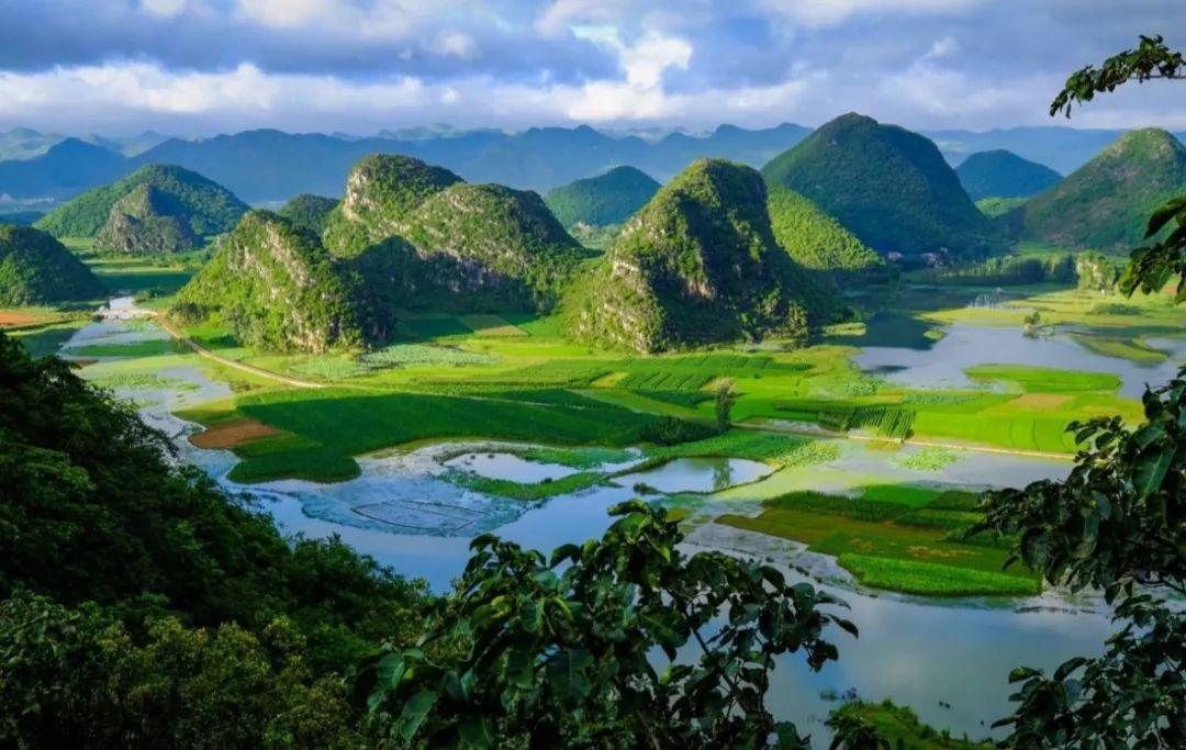 夏季最美的山水田园在这里,映日荷花别样红