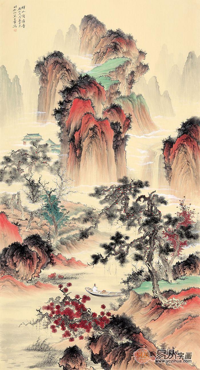 中式挂画----古色古香的山水画作品欣赏