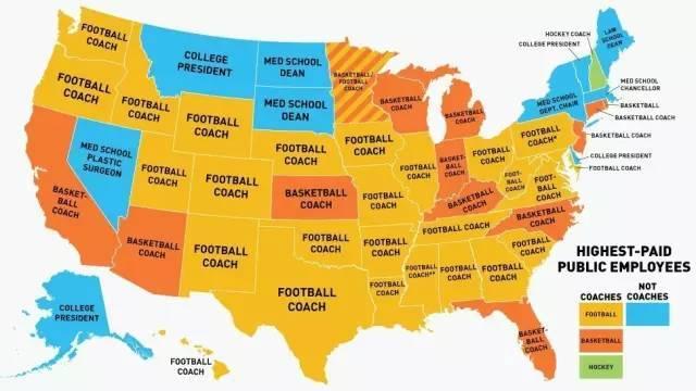 28张趣味地图,3分钟了解美国各州特色,选校不犯难