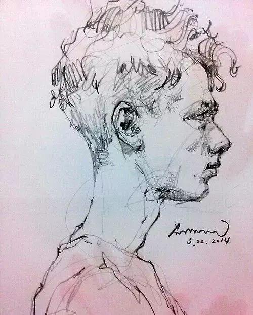 要是有这么好看的小哥哥作模特,我还可以再画100年速写!