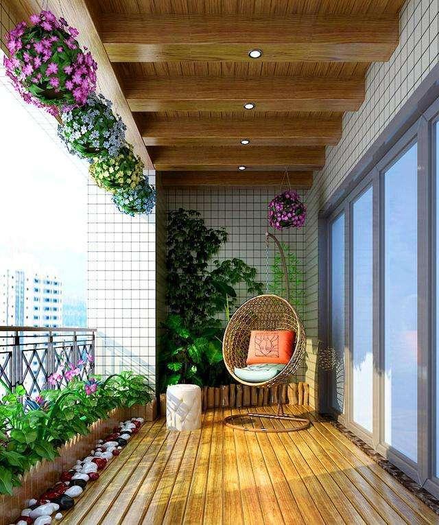 流行阳台不装晾衣架,这样装修既漂亮又实用